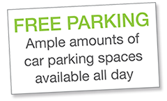 Free Parking at Whalley Physio